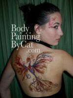 Pheonix glitter tattoo eye by Bodypaintingbycatdot