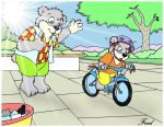 Learning to ride a bike by fredvegerano