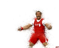 Dmitry Klokov Paint Splatter by timdallinger