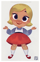 Animal Crossing girl by DianaMaRble