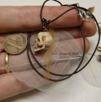 miniature fairy skull by polymer-people