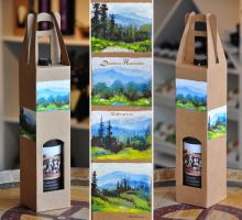 Painted wine box ii by dh6art