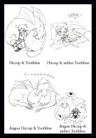 Hiccup and Toothles 4versions by J-C-P