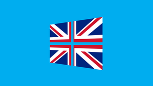 Windows 8 with United Kingdom flag by pavelstrobl