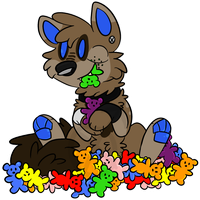 Gummy Bears Holy Shit by Fraxured