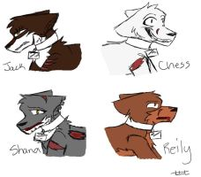 New Comic Charas by ForestAntlers