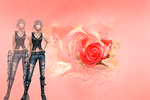 Roses and Blades by desert-beauty-sun