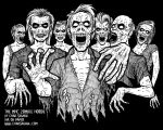 The MHC Zombie Horde Original Drawing by SavageSinister