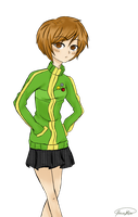 P4 : Satonaka Chie (colour) by joannawentbananas
