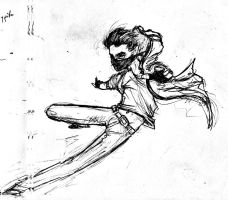 Foreshortening practice 1 by ElectricNotes