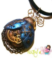 Blue mechanical Ladybug by colourful-blossom