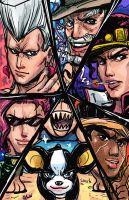 Hexagon Mugs StardustCrusaders by TheAmericanDream