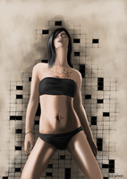 Crossword Puzzle Chick by ElCachone