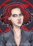 Natasha Romanoff Black Widow ACEO by CrystallineColey