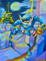 Sly Cooper in Paris by kristenfin95