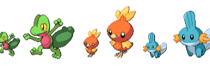 CRAS starter sprites by Pokemon-Diamond