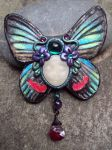 Art Nouveau Faerie Brooch by Phoenixartstudio
