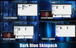 Dark Blue Skinpack For Windows 7/8/8.1 by TheDhruv