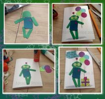 Robot Birthday Card by Tanis711