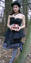 Zombie Head in your Hands by eyefeather-stock