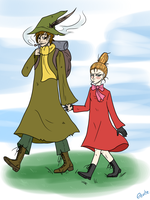 Snufkin x Little My by eente