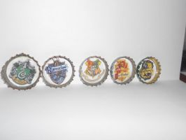 Harry Potter Hogwarts Houses Mix Pins by magpie89
