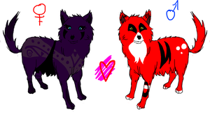 Wolf Adopts:  6 open by chibi-rabbit