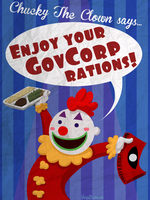 Commission: Chucky's GovCorp Rations Ad by VoidBurger