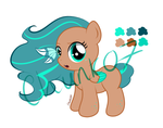 Teal Breeze Pony Adoptable by chunk07x