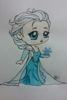 chibi Elsa by Sew-What