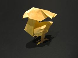 Origami Chocobo by crimson-ryu
