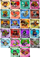 .: Crash Bandicoot VDay Card Collection :. by CrashHeadOn-Webcomic