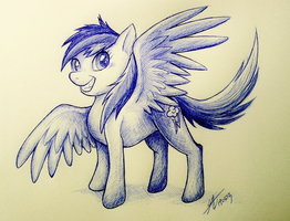 MLP: sketch Rainbow Dash by Marshcold