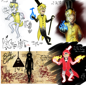 Gravity Falls - human Bill Cipher by AnormalADN