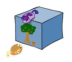 Pony Blobs and a Cube by Why485