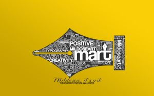 MART typography wallpaper v2 by Ciillk