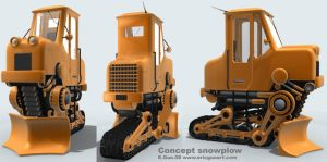 Unitrack snowplow by 2000yearsoldman