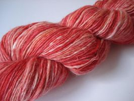 Indian spice handspun yarn by Snowberrylime