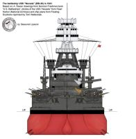 "USS ""Nevada"" - front by Lioness-Nala"