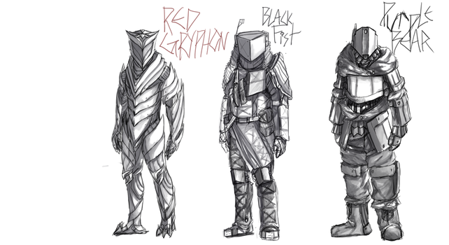 Hildaric Armor designs by bloodtrailkiller