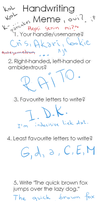 Handwriting meme thing by xXCookieKiddoXx