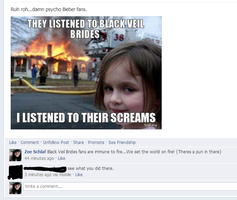 My dad understood a Black Veil Brides joke. by XxTabbixX