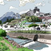 Scribble of Nagano Prefecture (Japan) by DigitallyInking