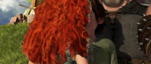 Merida And Hiccup kiss by Scribble-Bugg