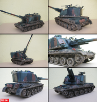 1/35 AUF-1 French mobile Artillery by Tank-Dragon2014