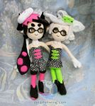 Splatoon Callie and Marie Plush Dolls by dollphinwing