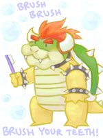 Brushie Bowser by Lollergator
