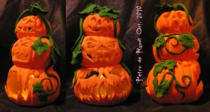 Pumpkin Tea Light Holder Day by spaceship505