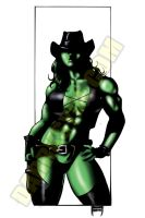 SHE-HULK IN TOMBSTONE by Dwid