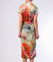 Water paint flowers Qipao 2 by yystudio